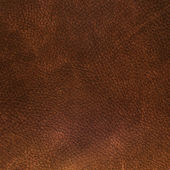 Brown leather texture closeup — 图库照片