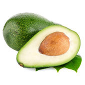 Avocados on white — Stock Photo