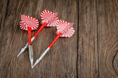 Three arrows darts — Stock Photo