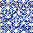 Traditional Portuguese glazed tiles — Stock Photo #33021385