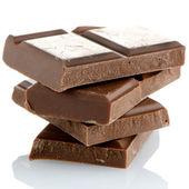 チョコレートの部分のクローズ アップの詳細 — ストック写真