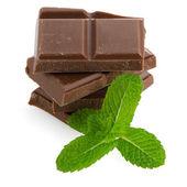 Closeup detail of chocolate parts — Stock Photo