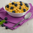 Cereal and blueberries — Stock Photo #34229319