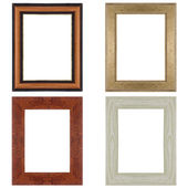 Four picture frames — Stock Photo