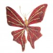 Butterfly Christmas tree ornament — Stock Photo #34778677