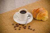ブラック コーヒーのカップ — ストック写真