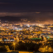 Braga cityscape at night — Stock Photo