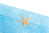 Sea star blue envelope — Stok fotoğraf
