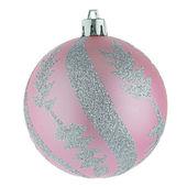 Pink christmas ball — Stock Photo
