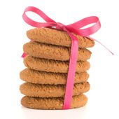 Festive wrapped biscuits — Stock Photo