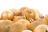 Gouden kerstballen — Stockfoto