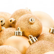 Golden christmas balls — Stock Photo #36798981