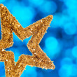 Closeup of golden star — Stock Photo