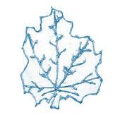 Folha azul decorativo de natal — Foto Stock