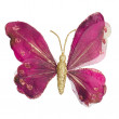 Butterfly Christmas tree ornament — Stock Photo