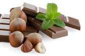 Chocolate parts — Stock Photo