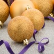 Golden christmas balls — Stock Photo #37206689