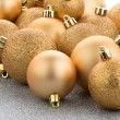 Golden christmas balls — Stock Photo #37412225