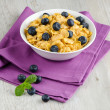Cereal and blueberries — Stock Photo #38637559