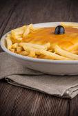 Francesinha on plate — Stock Photo
