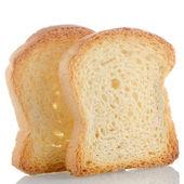 Golden brown toast — Stock Photo