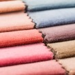 Multi color fabric texture samples — Stock Photo #39811305