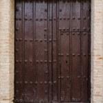 Old wooden entrance door — Stock Photo #39811517