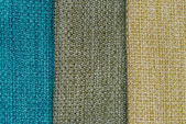 Multi color fabric texture samples — Stock Photo