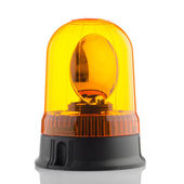 Orange rotating beacon  — Stock Photo