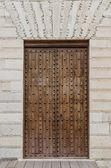 Eski ahşap giriş kapısı — Stok fotoğraf