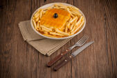 Francesinha on plate — Stock Photo