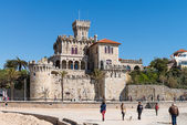 Castle at Tamariz Beach — Stockfoto