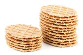 堆的甜华夫饼 — Stockfoto