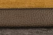 Brown leather texture closeup — Stock Photo