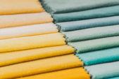 Multi kolor tkanina tekstura próbek — Zdjęcie stockowe