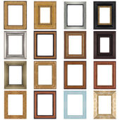 Set of wooden frames — Stock Photo