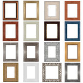 Set of wooden frames — Stock Photo