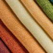 Multi color fabric texture samples — Stock Photo #44535915