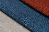 Multi color fabric texture samples — Стоковое фото