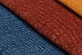 Campioni di multi colore tessuto trama — Foto Stock