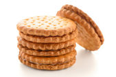 Sandwich biscuits with vanilla filling — Stock Photo