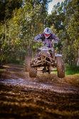 Pilota quad saltando — Foto Stock