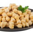 Chickpeas in a brown plate — Stock Photo #46520399
