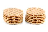 Pile of sweet waffles — Stock Photo