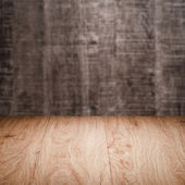 Table with wall — Stock Photo