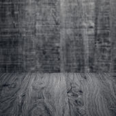 Gray Table with wall — Stock Photo
