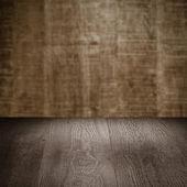 Tabella con parete — Foto Stock