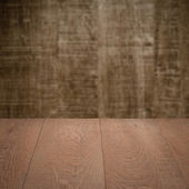 Brown table with wall — Stock Photo
