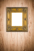 Picture frame on wall — Stock Photo