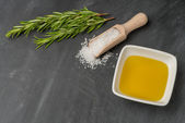 Cooking ingredients for mediterranean cuisine — Stock Photo